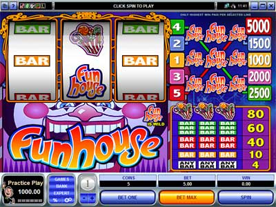 Fun House video slot