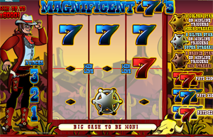 Magnificent 777's video slot