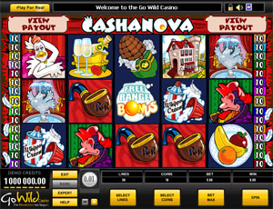 Cashanova video slot