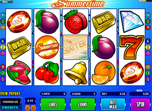 Summertime video slot